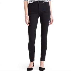 """MADEWELL 10"""" High Rise Black Skinny Jeans Size 29"""